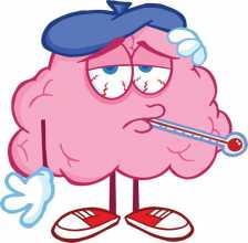 Boneco de nuvem com sintomas de gripe