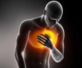 Desenho de homem com dor forte no peito