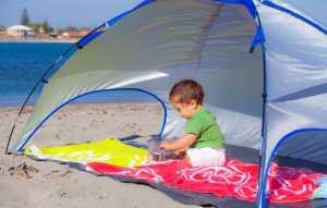 Calor raios UV crianças