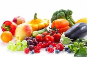 Legumes frutas