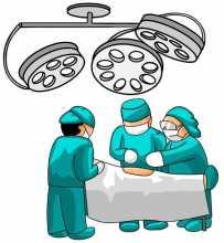Desenho de bloco operatório para ilustrar a transplantação