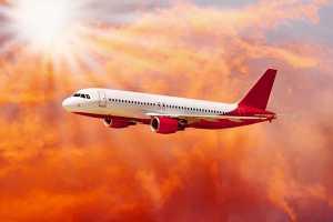 Avião a voar