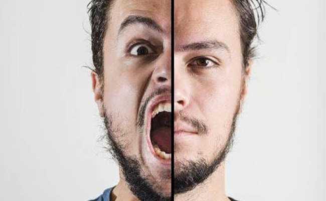 Homem com esquizofrenia